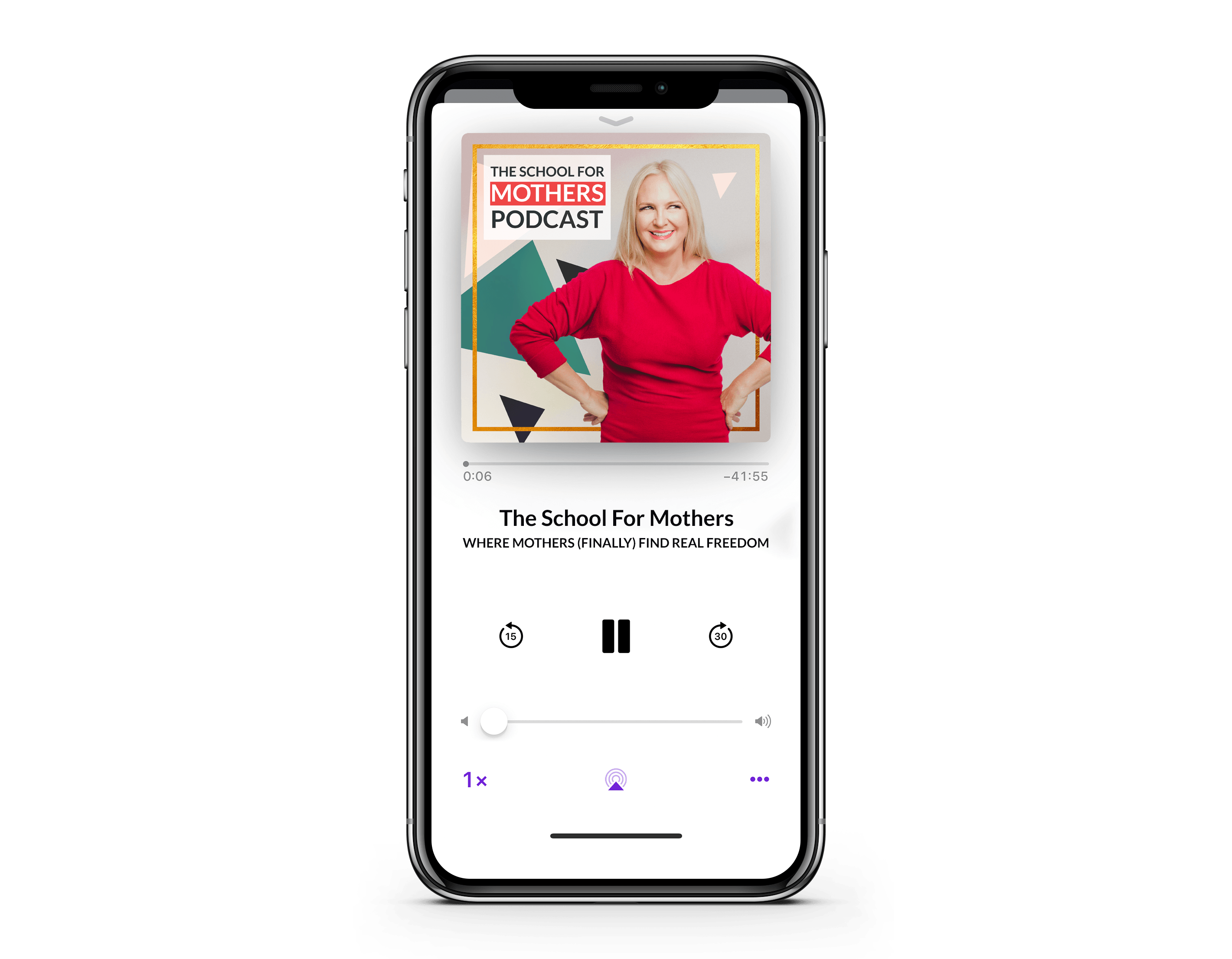 School For Mothers Podcast on iPhone